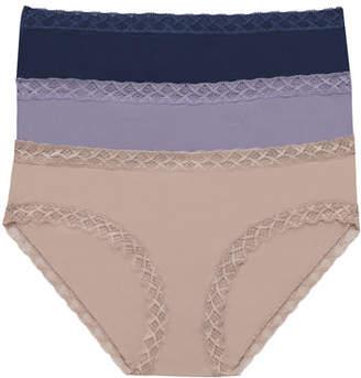 Natori Three-Pack Bliss Cotton Girl Briefs