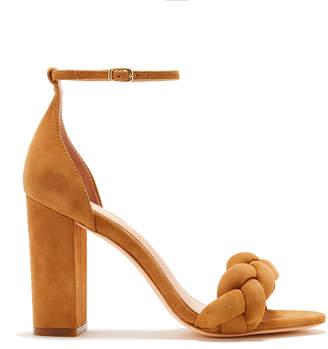 Rachel Zoe Ashton Braided Suede Block Heeled Sandals
