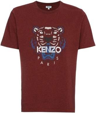Kenzo Burgundy Red Tiger Logo T-Shirt