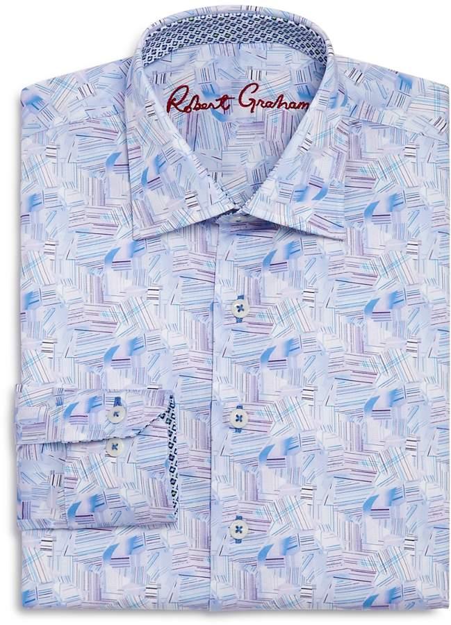 Boys' Geometric Print Dress Shirt - Big Kid