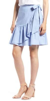 1901 Ruffle Chambray Miniskirt (Regular & Petite)