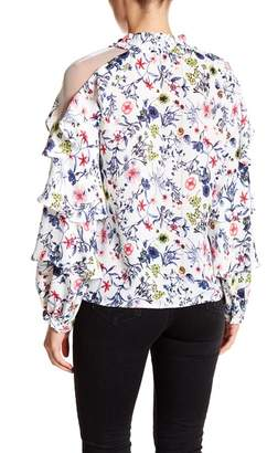 Gracia Floral Tiered Ruffle Blouse