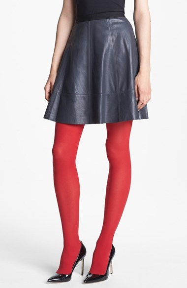Nordstrom MISS WU Leather Circle Skirt Exclusive)