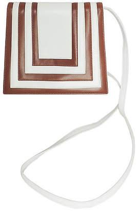 One Kings Lane Vintage Valentino White & Brown Leather Purse