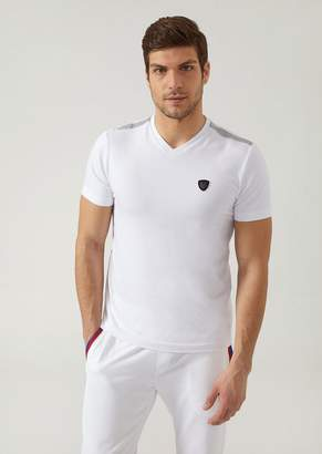 Emporio Armani Ea7 Stretch Cotton Jersey T-Shirt