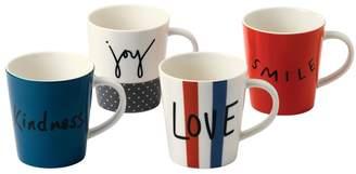 ED Ellen Degeneres by Royal Doulton ED Joy Porcelain Mugs (Set of 4)