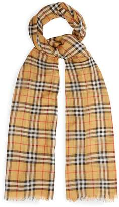 Burberry Vintage check wool and silk scarf