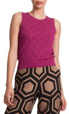 Trina Turk Danville Sleeveless Cotton & Merino Wool Sweater