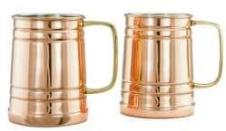 Old Dutch Two-Piece One Pint Beer Copper Tankard Set