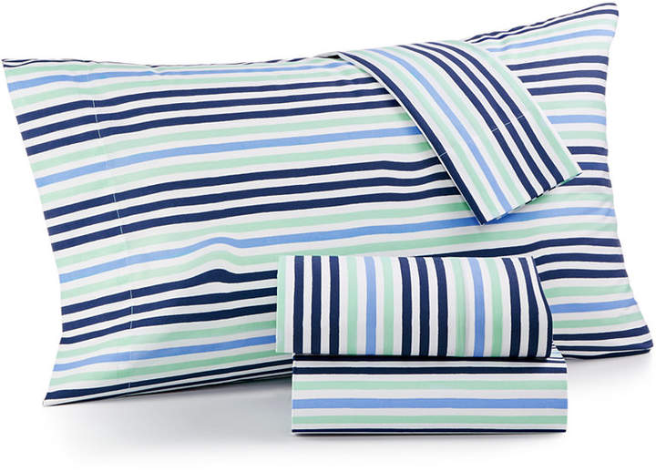 Martha Stewart Collection Last Act! Whim by Martha Stewart Collection Novelty Print Standard Pillowcase Pair, 200 Thread Count 100% Cotton Percale, Created for Macy's Bedding
