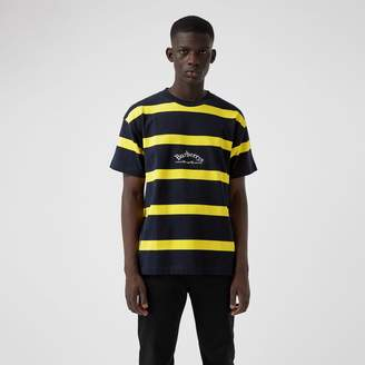Burberry Embroidered Archive Logo Striped Cotton T-shirt