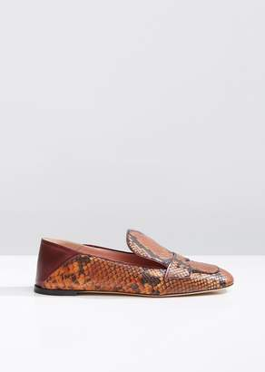 Rochas Python Babouche Loafers