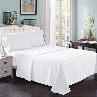 """+Hotel by K-bros&Co Unbranded Hotel Luxury Bed Sheets - 4 Pieces - Extra Soft - 14"""" Deep Pocket Brushed Microfiber 2200 Thread Count Wrinkle Resistant Bedding Sheets Full,White"""