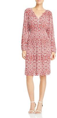 Foxcroft Liza Geo Print Crepe Dress $98 thestylecure.com