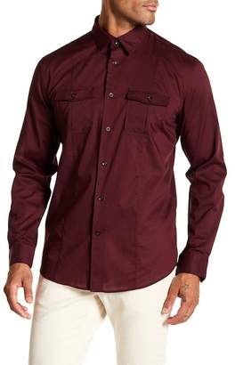 John Varvatos Collection Patterned Slim Fit Shirt