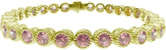 "Judith Ripka Sterling & 14K Clad Diamonique 6-3/4"" Bracelet"