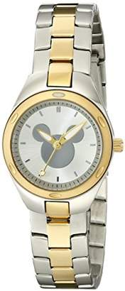 Disney Women's W001909 Mickey Mouse Analog Display Analog Quartz Two Tone Watch