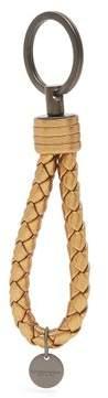Bottega Veneta Intrecciato Leather Knot Key Ring - Womens - Gold
