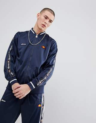 Ellesse Jacket With Sleeve Taping In Navy