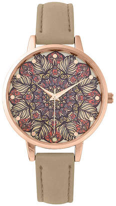Decree Womens Brown Strap Watch-Pt3166rgtn