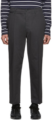 Lemaire Grey Twill Chino Trousers