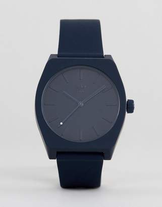 adidas Z10 Process Silicone Watch In Navy