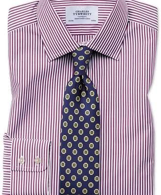 Charles Tyrwhitt Classic fit Bengal stripe purple shirt