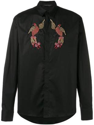 Christian Pellizzari beaded embroidery shirt