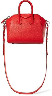 Givenchy - Antigona Mini Textured-leather Shoulder Bag - one size $1,750 thestylecure.com