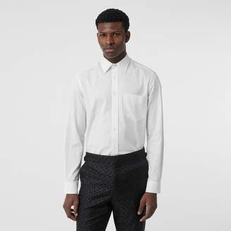 Burberry Classic Fit Monogram Cotton Jacquard Shirt