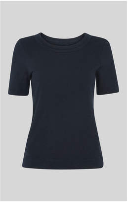 Whistles Rosa Double Trim T Shirt