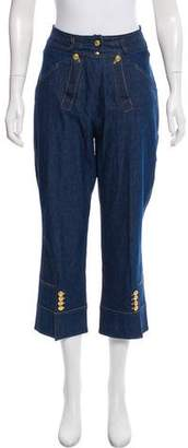 Christian Dior Cropped High-Rise Jeans