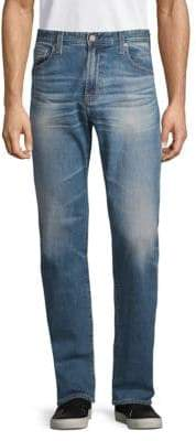 AG Jeans Cotton-Blend Faded Denim Pants