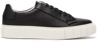 Primury - Dyo Lace Up Leather Trainers - Mens - Black