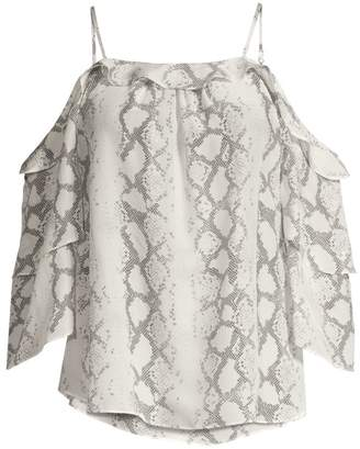 Generation Love Gwen Snakeskin-Print Off-The-Shoulder Blouse