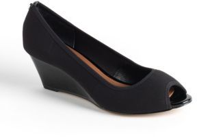 Donald J Pliner Molly Leather Wedge Pumps