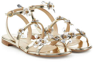 Paul Andrew Flora Metallic Leather Sandals