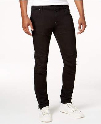 G-Star Raw Men's Slim Fit Black Ankle-Zip Moto Jeans $180 thestylecure.com