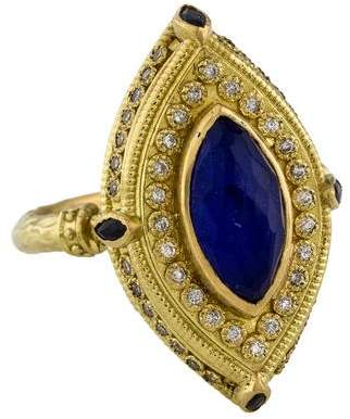 Armenta 18K Lapis Doublet, Sapphire & Diamond Cocktail Ring