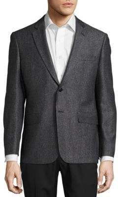 John Varvatos Textured Wool-Blend Blazer