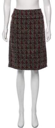 Chanel Tweed Knee-Length Skirt