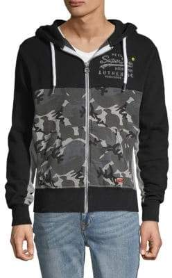 Superdry Camouflage-Print Cotton Blend Jacket