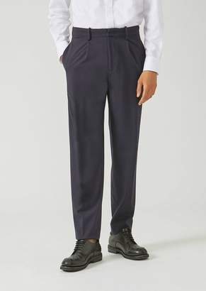 Emporio Armani Classic Loose Stretch Wool Trousers