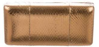 Kotur Snakeskin Box Clutch