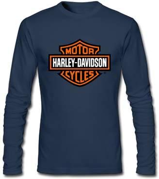 Harley-Davidson Dvigo Men's Motorcycle Logo 100% Cotton Long Sleeve Tee Shirt