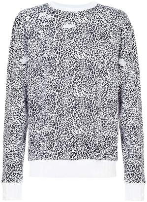 Amiri Distressed Leopard Crewneck sweatshirt