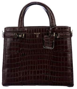 Serapian Embossed Leather Melinè Bag