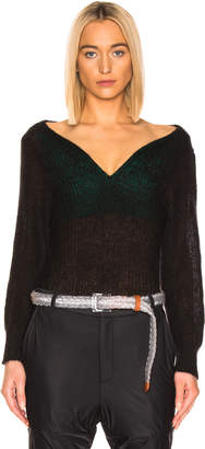 Y/Project Off Shoulder Sweater in Black | FWRD