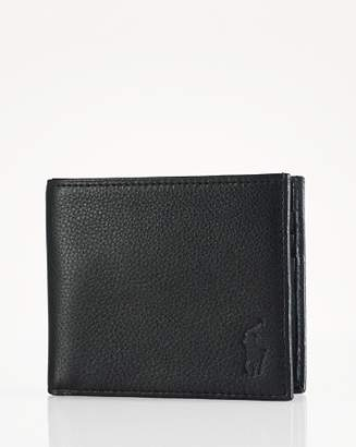 Ralph Lauren Pebbled Leather Billfold Wallet
