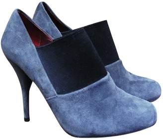 Miu Miu Grey Suede Ankle boots